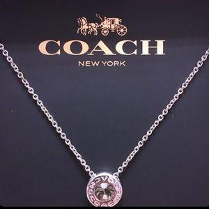 🖤NIB Coach Open Circle Necklace in Silver